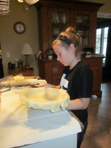The dough went in first!