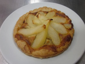 A sneak peek of how the apple tart turned out!